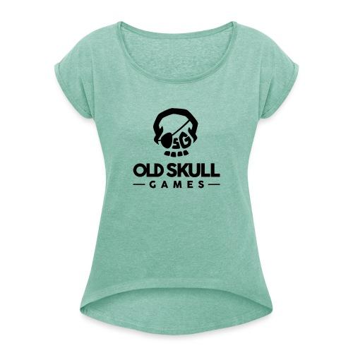 OSG Noir - T-shirt à manches retroussées Femme