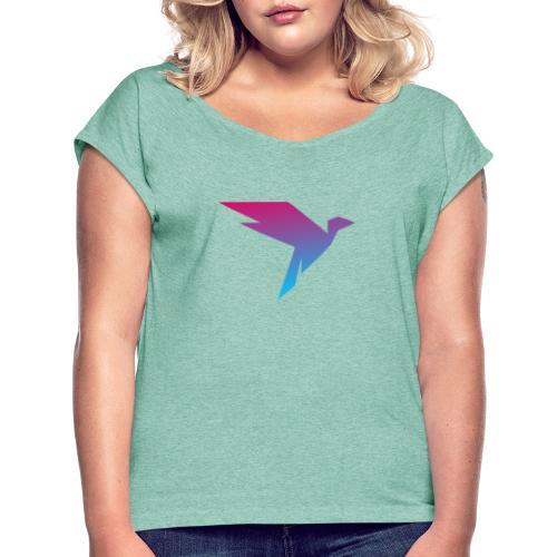 Der Humanisten Vogel - Frauen T-Shirt mit gerollten Ärmeln