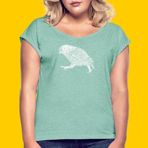 Oh...wl - T-shirt med upprullade ärmar dam
