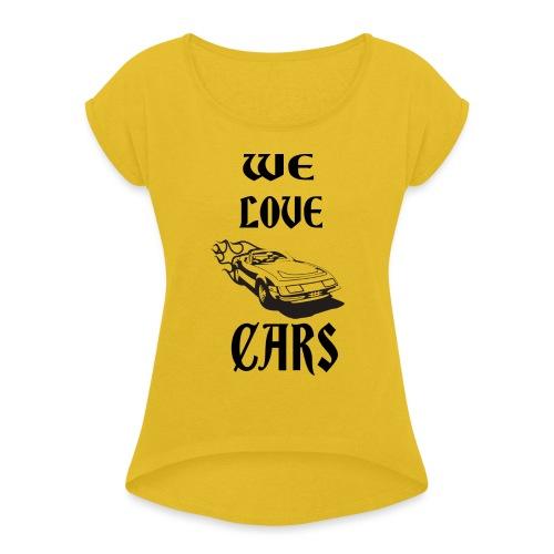 auto fahrzeug garage - Frauen T-Shirt mit gerollten Ärmeln