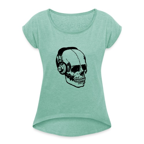 lydbog_6 - Dame T-shirt med rulleærmer