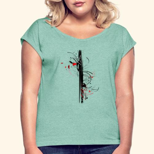 Papillonade - T-shirt à manches retroussées Femme