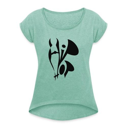 hiphop style - Frauen T-Shirt mit gerollten Ärmeln