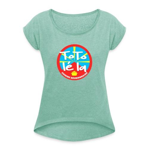 Collection Toto Lé La 974 - T-shirt à manches retroussées Femme