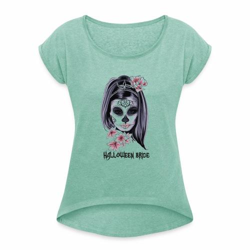 Halloween bride - T-shirt à manches retroussées Femme