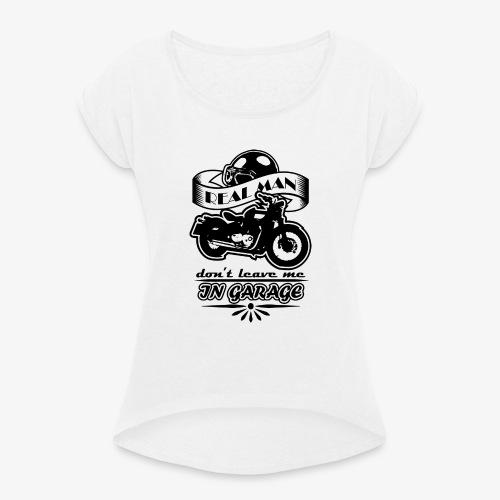 biker style - Maglietta da donna con risvolti