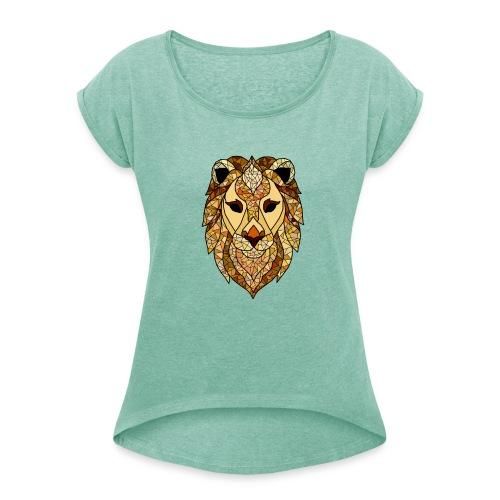 lion - Maglietta da donna con risvolti