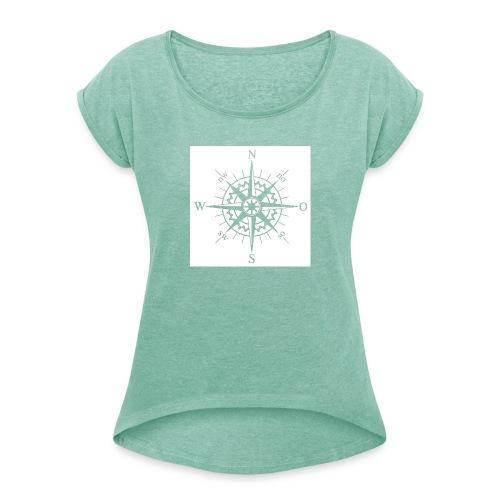 layout 21 - Frauen T-Shirt mit gerollten Ärmeln