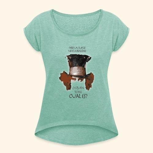 CUAL ES - Camiseta con manga enrollada mujer