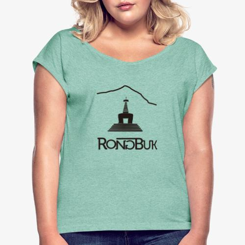 Rongbuk Black - Women's T-Shirt with rolled up sleeves