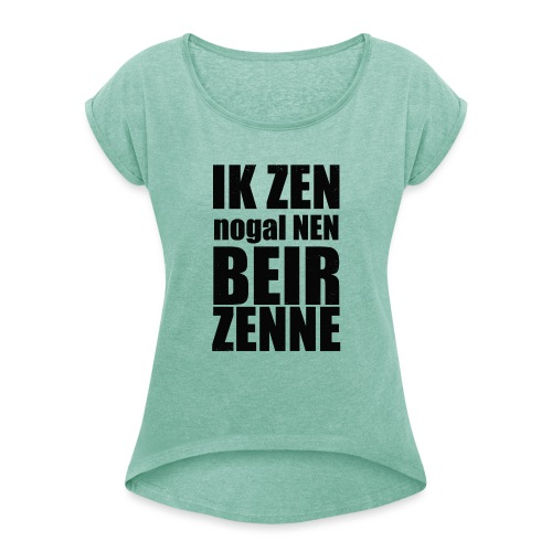 Beir - Vrouwen T-shirt met opgerolde mouwen