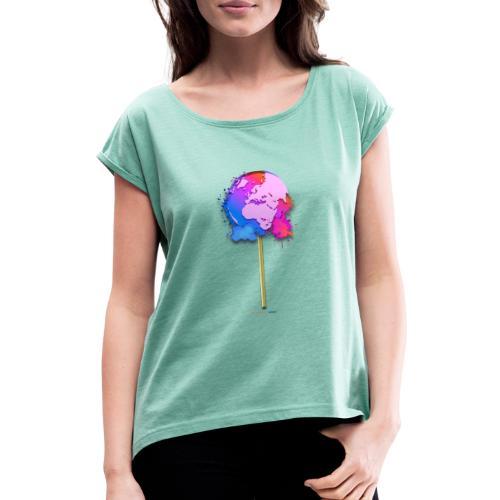 TShirt lollipop world - T-shirt à manches retroussées Femme