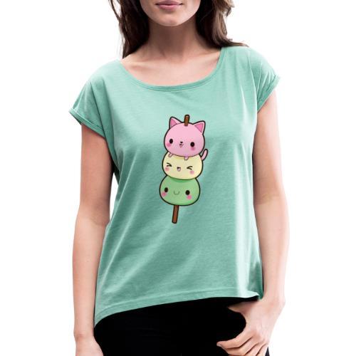 Kawaii Dango Love - Camiseta con manga enrollada mujer