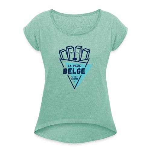 la belge - T-shirt à manches retroussées Femme