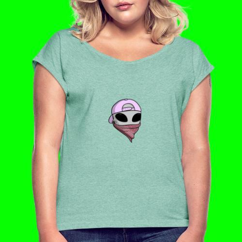 gangsta alien logo - Maglietta da donna con risvolti