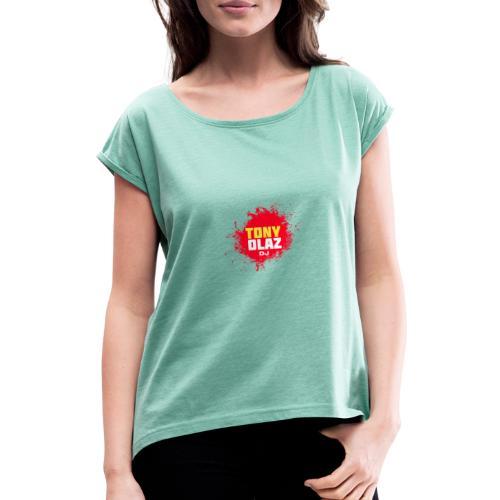Marca Tony Olaz dj - Camiseta con manga enrollada mujer