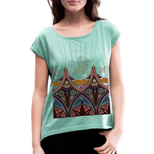 Arabesque - Maglietta da donna con risvolti