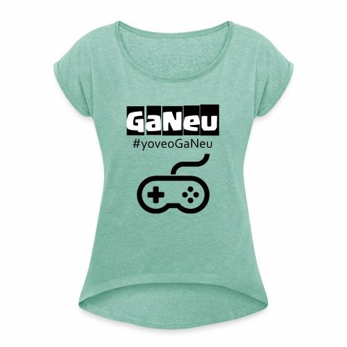 GaNeu - Camiseta con manga enrollada mujer