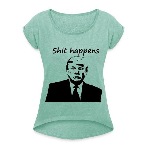 Präsident Trump - Frauen T-Shirt mit gerollten Ärmeln