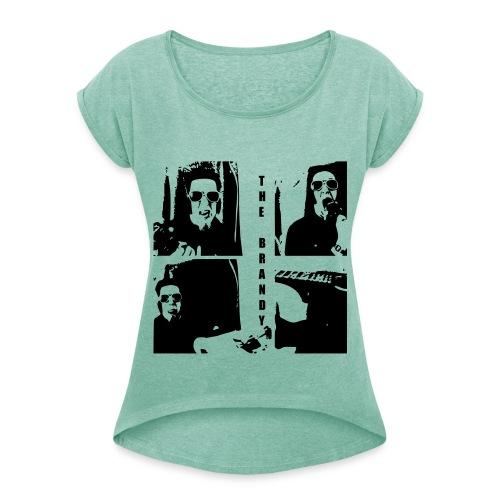 The Brandy 3 - Frauen T-Shirt mit gerollten Ärmeln
