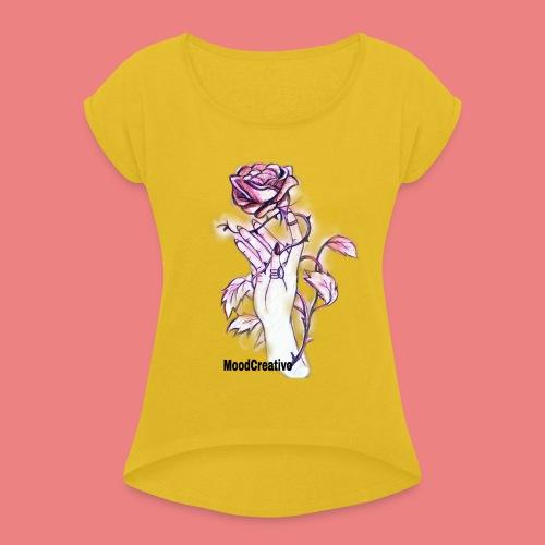 MoodCreativo - Maglietta da donna con risvolti