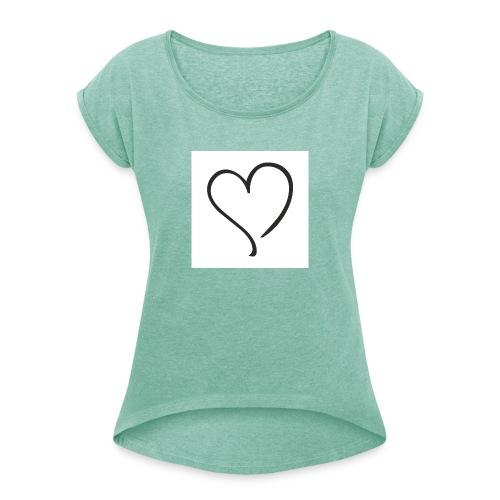 Comme de Garcon - Frauen T-Shirt mit gerollten Ärmeln