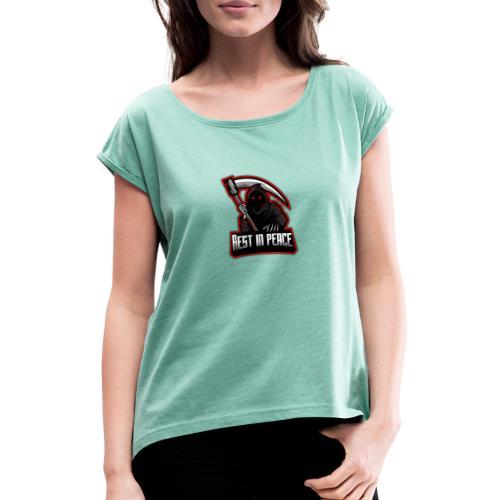 RIP - Frauen T-Shirt mit gerollten Ärmeln