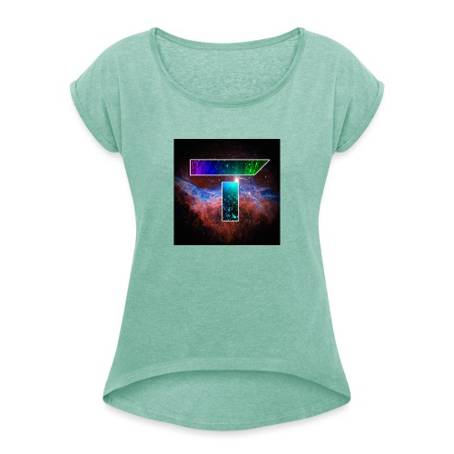 Youtube Profile - Women's T-Shirt with rolled up sleeves