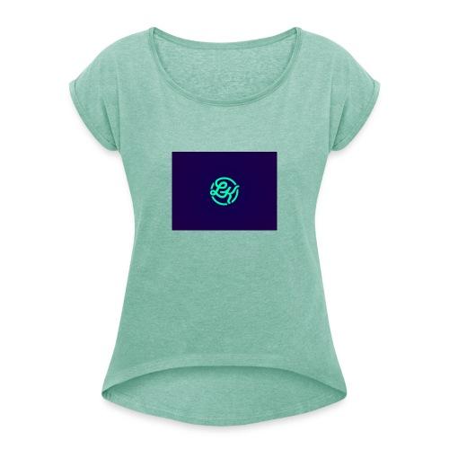 LowKee Merch - Dame T-shirt med rulleærmer