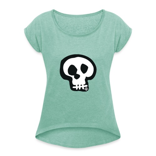 NUMBSKULL T - Women's T-Shirt with rolled up sleeves