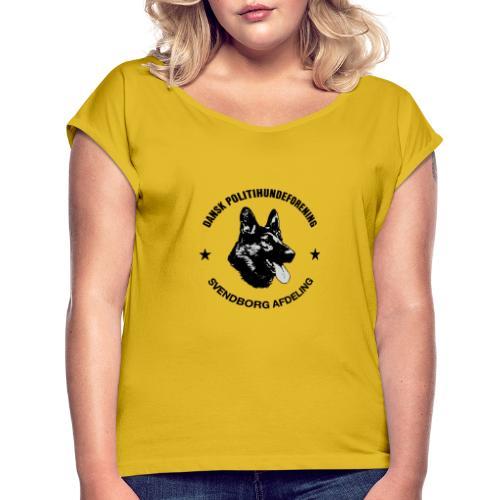 Svendborg ph sort - Dame T-shirt med rulleærmer