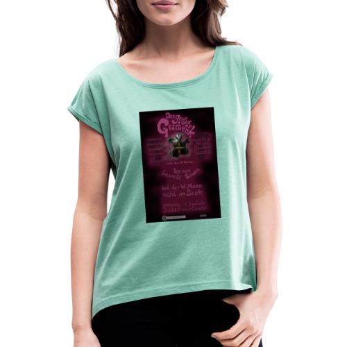 Design Das geilste Geschenk B Seite - Frauen T-Shirt mit gerollten Ärmeln
