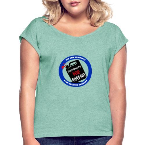 kanister 2 - Frauen T-Shirt mit gerollten Ärmeln