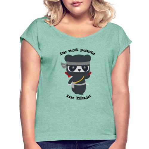Non sono un Panda - Maglietta da donna con risvolti