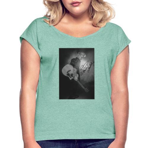 Foto - Frauen T-Shirt mit gerollten Ärmeln