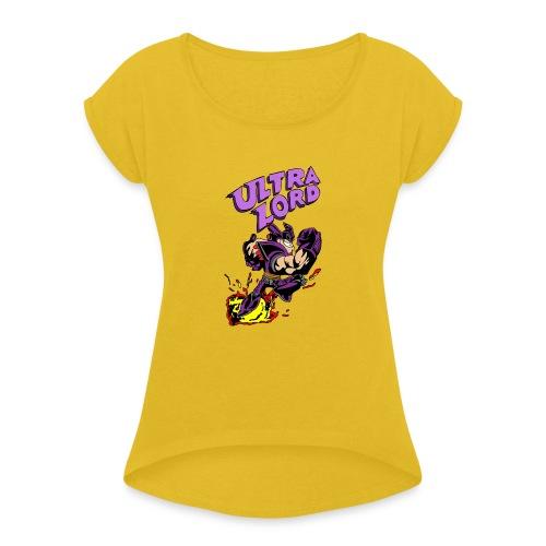 Sheen s Ultra Lord - Naisten T-paita, jossa rullatut hihat