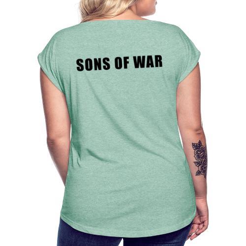 Tekst - Dame T-shirt med rulleærmer