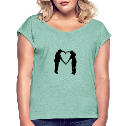 silhouette 3612778 1280 - T-shirt med upprullade ärmar dam