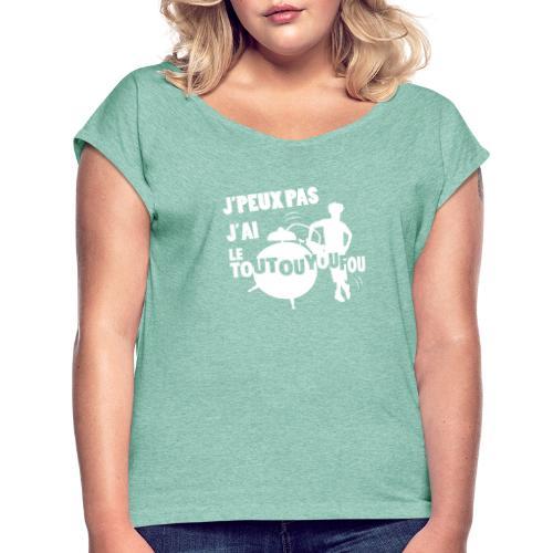 JPEUXPAS BLANC - T-shirt à manches retroussées Femme