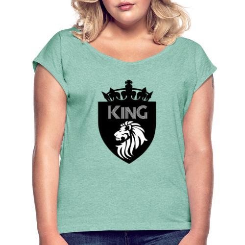 king - T-shirt à manches retroussées Femme
