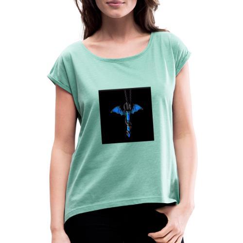 hauptsacheAFK - Frauen T-Shirt mit gerollten Ärmeln