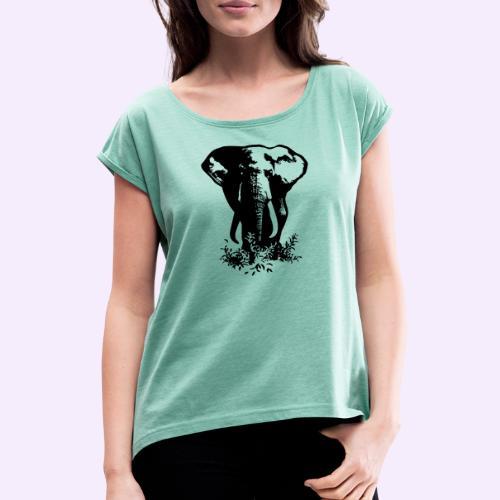 Big tings a gwaan... - Frauen T-Shirt mit gerollten Ärmeln