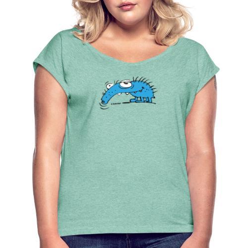 Rüsselkäfer - Frauen T-Shirt mit gerollten Ärmeln