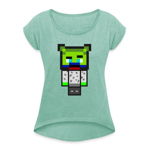 Brotis - Frauen T-Shirt mit gerollten Ärmeln