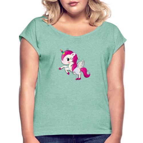 Unicorn minipony collection! - Maglietta da donna con risvolti