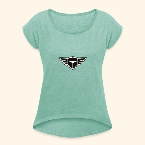 DitIsDaan Logo - Vrouwen T-shirt met opgerolde mouwen