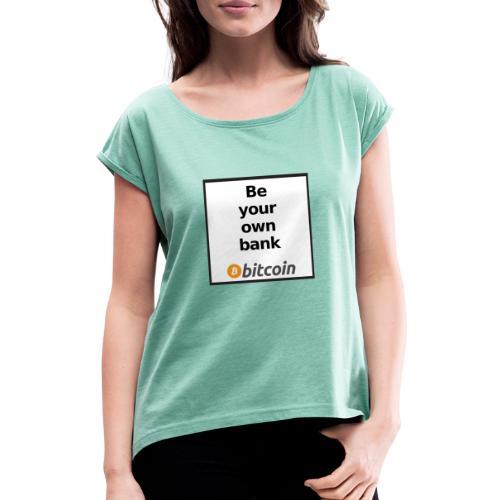 Bitcoin - Maglietta da donna con risvolti