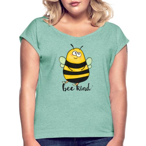 Bee kid - Women's T-Shirt with rolled up sleeves