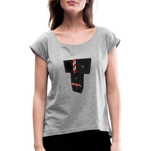 T-speakers - Naisten T-paita, jossa rullatut hihat