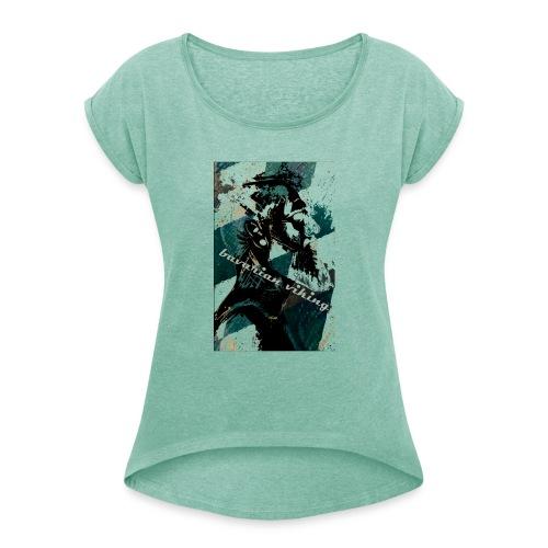 bavarian vikings - Frauen T-Shirt mit gerollten Ärmeln
